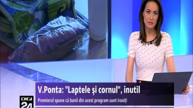 """Premierul Ponta a pus gând rău programului """"laptele și cornul"""""""