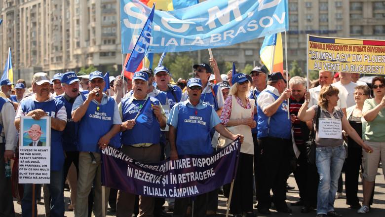 pensionari militari protest mediafax