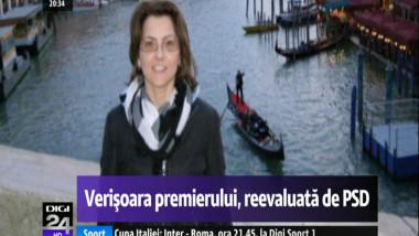 Verișoara premierului Victor Ponta, reevaluată de PSD