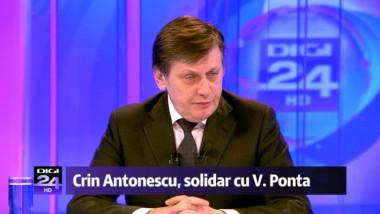 Crin Antonescu, la Digi24: Eu nu sunt așa încântat ca dl. Băsescu de propriul meu guvern