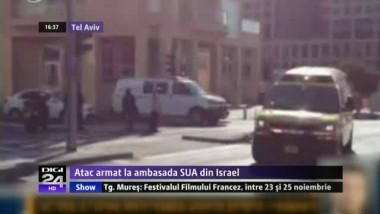 Incident de securitate la Ambasada SUA din Tel Aviv. Un soldat a fost înjunghiat