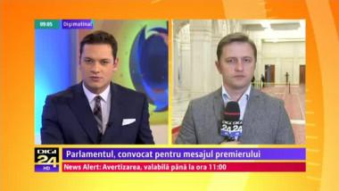 Ponta în Parlament: Interesul României nu poate fi nici negociat, nici supus unui compromis