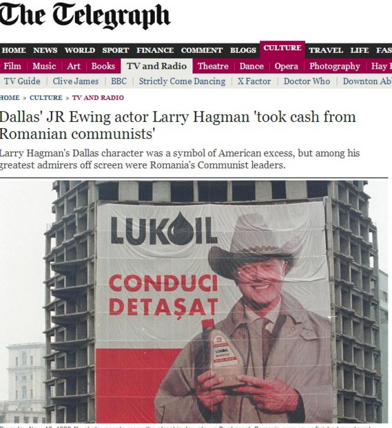Larry Hagman, interpretul lui J.R, a primit o pungă cu bani de la Ceaușescu |telegraph.co.uk