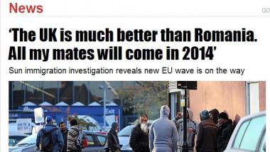 The Sun: Marea Britanie, amenințată de un val uriaș de imigranți români