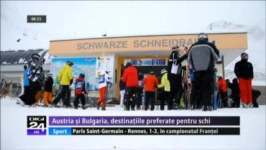 SE APROPIE SEZONUL DE SCHI. Austria şi Bulgaria, în topul preferinţelor românilor