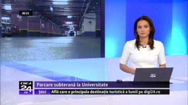 S-a tăiat panglica inaugurală la parcarea subterană de la Universitate