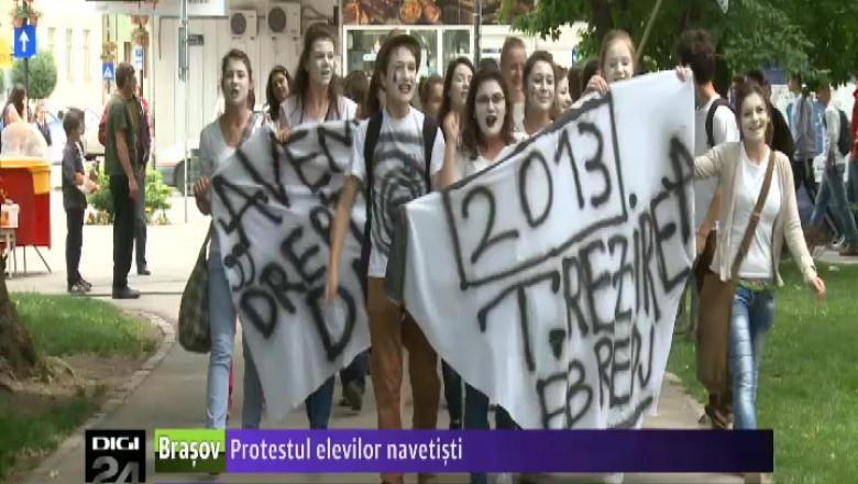PROTESTUL ELEVILOR NAVETISTI