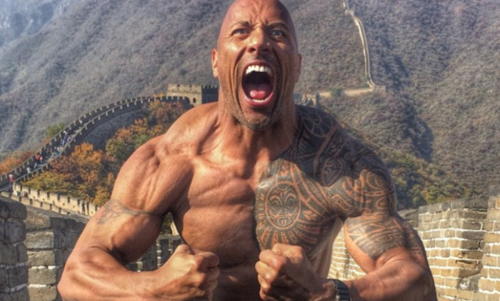 dwayne the rock johnson tinerete