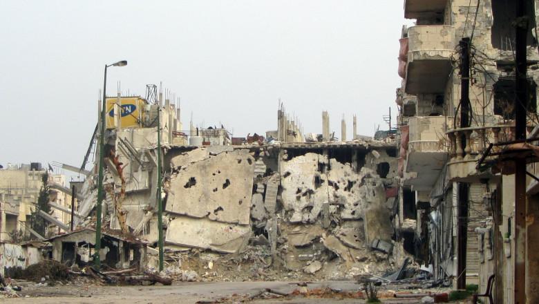 BOMBARDAMENTE HOMS SIRIA-AFP Mediafax Foto--