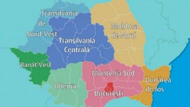 romania harta regiuni regionalizare digi24