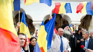 """T. Băsescu, în Harghita: """"Am văzut la porţi steagul secuiesc. Oare nu era loc şi pentru cel românesc?"""""""