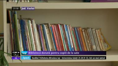 Biblioteca dotata pentru copiii de la sate