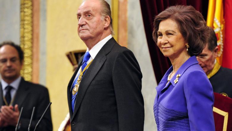 regele si regina spaniei Juan Carlos si Sofia afp