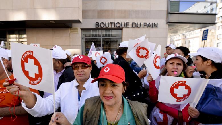 protest sindicate sanatate medici-Mediafax Foto-Andreea Alexandru-2