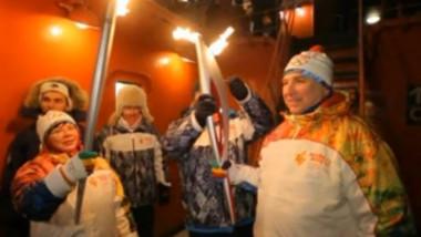 flacara olimpica pol nord