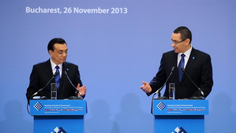 ponta cu premierul chinez - gov.ro
