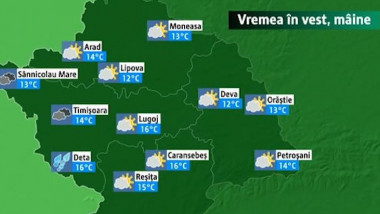 vremea in vest a
