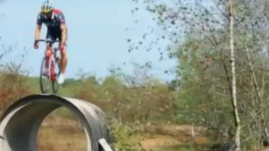 biciclist cascador