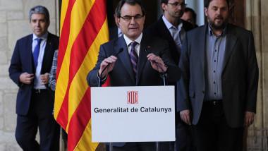 Artur Mas seful guvernului regional Catalonia anunta referendumul de independenta-AFP Mediafax Foto-JOSEP LAGO
