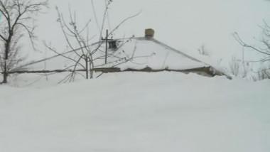 casa acoperita de zapada