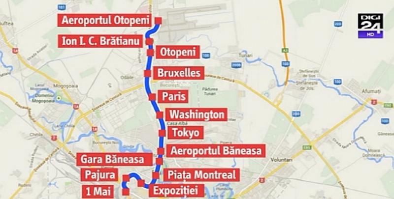 Harta Metroul Către Otopeni Opreste La Mall Metrorex A Stabilit