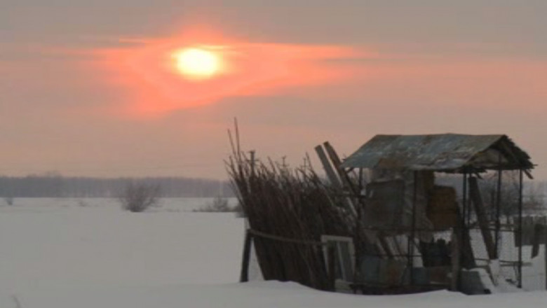 peisaj rural iarna