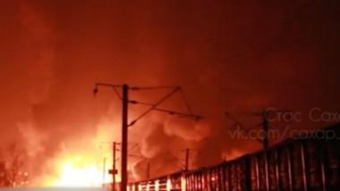 cisterna foc incendiu tren