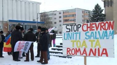 protest pungesti iarna