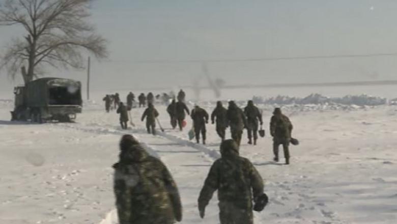 militari tulcea zapada