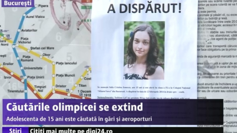 afis eleva disparuta metrou