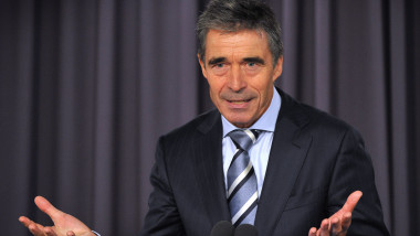 anders fogh rasmussen secretarul general al NATO afp