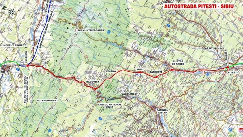 Plan Autostrada Sibiu-Pitesti