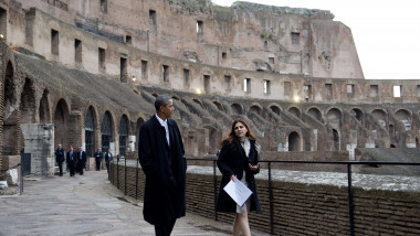 obama colosseum - 6615643-AFP Mediafax Foto-SAUL LOEB