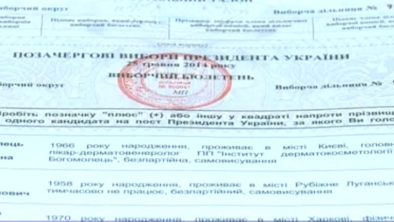 buletin de vot ucraina