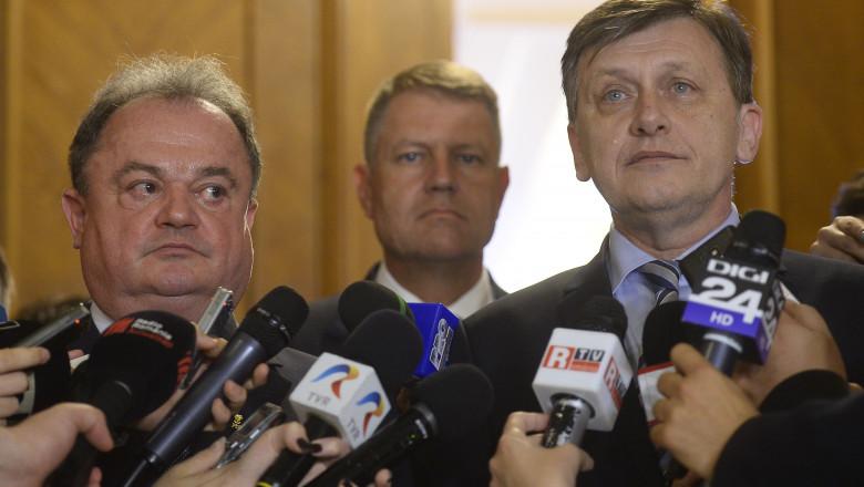 Vasile Blaga Klaus Iohannis si Crin Antonescu PDL si PNL crop - Mediafax Foto-Octav Ganea-1