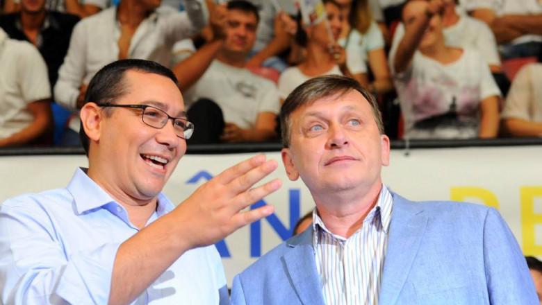 Victor Ponta Crin Antonescu la reuniunea tinerilor USL Constanta - Sursa foto Facebook Victor Ponta