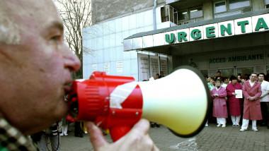 proteste medici - 1553791-Mediafax Foto-Ion Navala