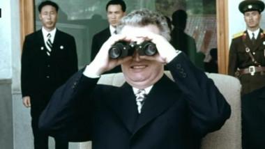 ceausescu cu binoclu