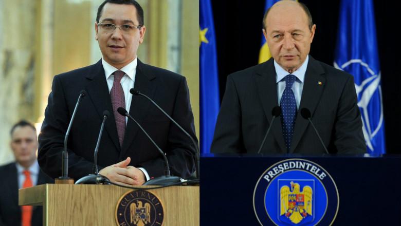 Traian Basescu Victor Ponta colaj 1