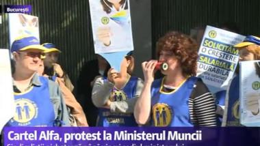 protest ministerul muncii