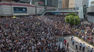 Proteste septembrie 2014 Hong Kong-AFP Mediafax Foto-ANTHONY WALLACE