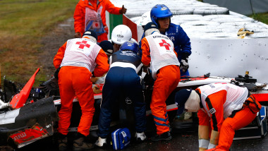 Accident Bianchi Formula 1 Japonia - Getty