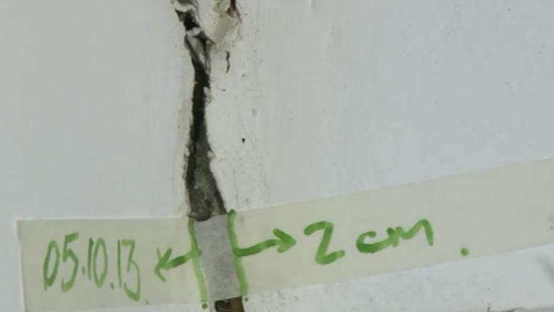 crapatura perete cutremur