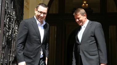 Victor Ponta si Klaus Iohannis - Mediafax Foto-Ovidiu Dumitru Matiu