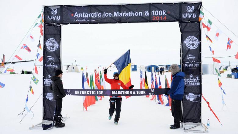 Adriana Istrate - Antarctic Ice Marathon FB