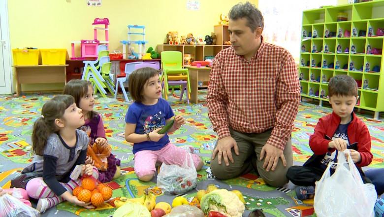 copii donare fructe