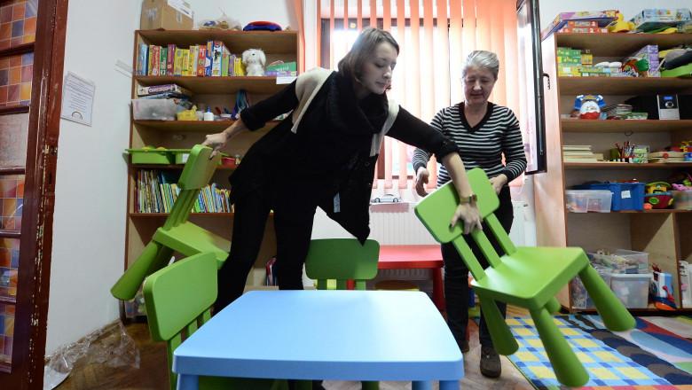 ana maria branza la centru de autism 6268314-Mediafax Foto-Silviu Matei
