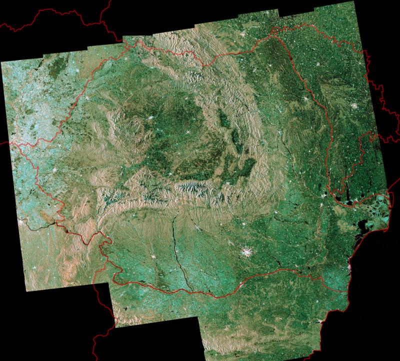 Foto Romania Văzută Din Satelit