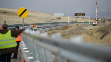 Zona de autostrada Sibiu-Orastie inaugurare noiembrie 2014-Mediafax Foto-Catalin Cadan