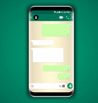 Whatsapp chat inside samsung galaxy phone